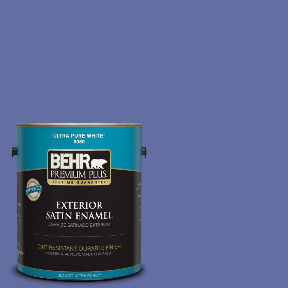 BEHR Premium Plus 1-gal. #610B-6 Stained Glass Satin Enamel Exterior Paint