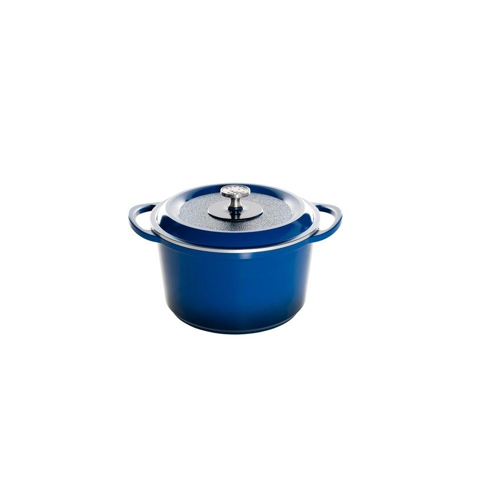 Nordic Ware Pro Cast Traditions Enameled Cast 6.5 qt. Dutch Oven with Cover - Midnight Blue
