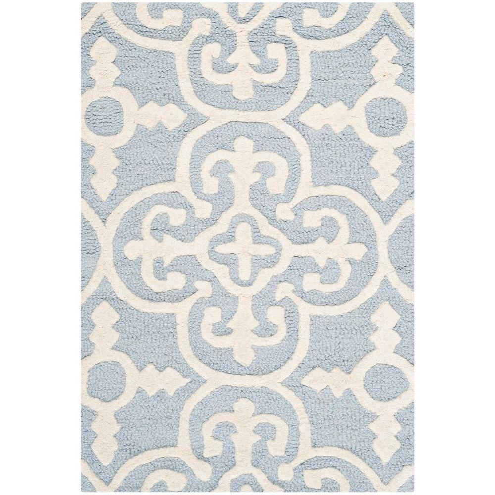 Cambridge Light Blue/Ivory 2 ft. x 3 ft. Area Rug