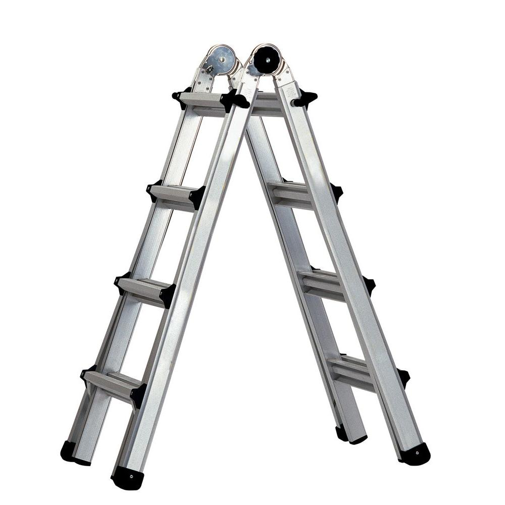 Cosco 17 ft. Aluminum World's Greatest Multi-Position Ladder with 300 lb. Load Capacity