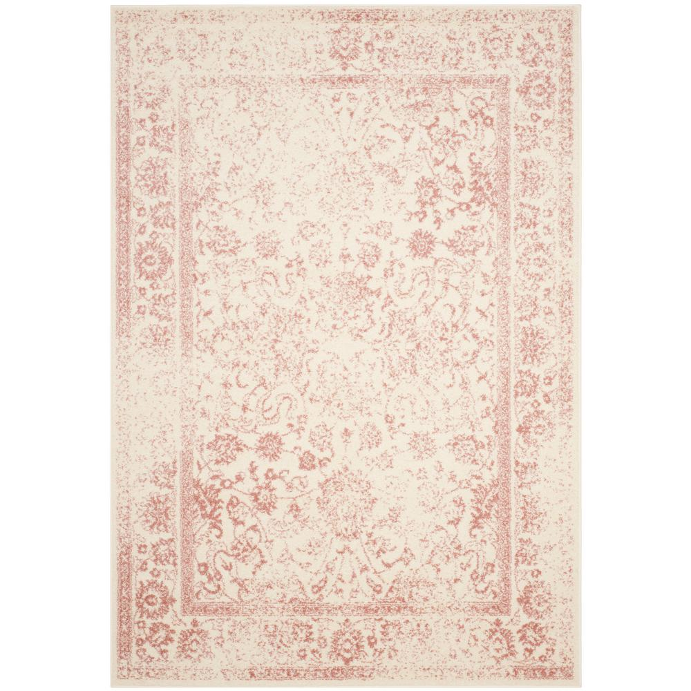 Adirondack Ivory/Rose 6 ft. x 9 ft. Area Rug