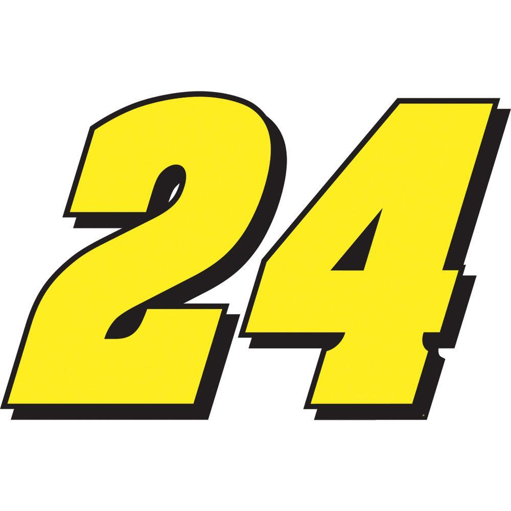 Fathead 33 in. x 21 in. Jeff Gordon 24 - Logo Wall Decal