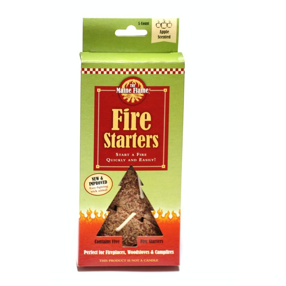 Maine Flame Apple Scented Fire Starter (5-Pack)-MF5-Apple - The Home Depot