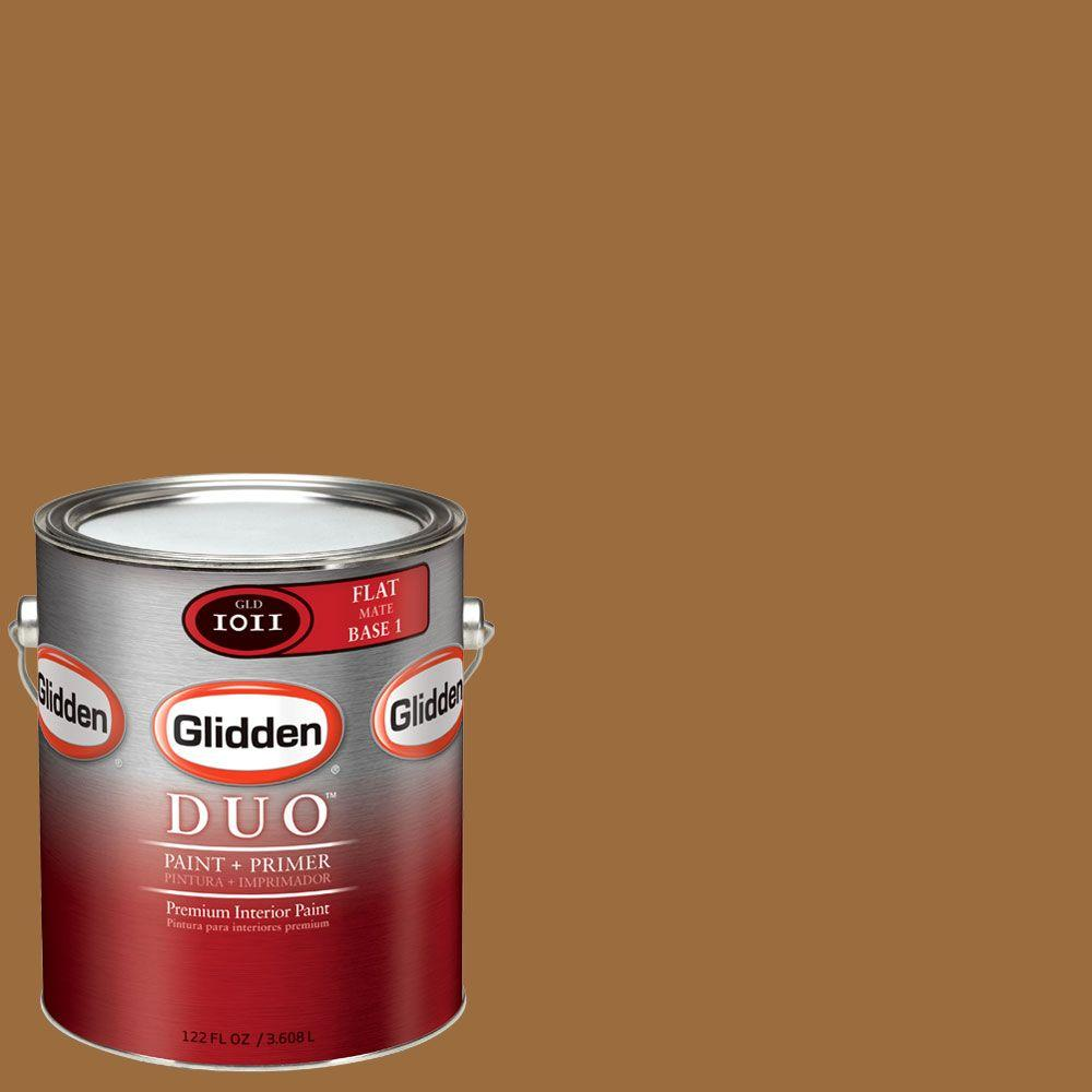 Glidden DUO 1-gal. #GLY27 Golden Bronze Flat Interior Paint with Primer