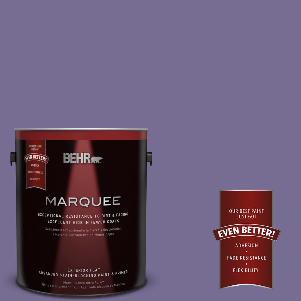 BEHR MARQUEE 1-gal. #650D-6 Purple Silhouette Flat Exterior Paint