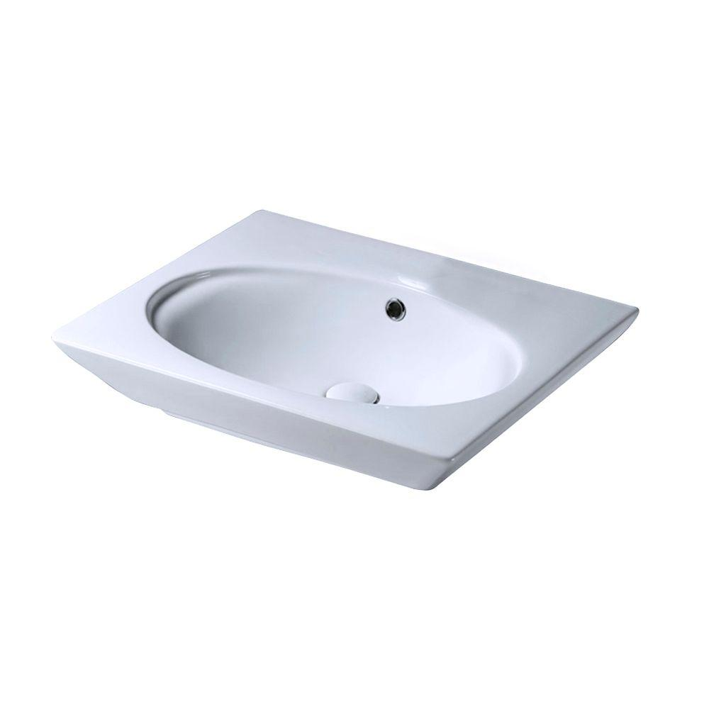 Barclay Products Aristocrat 18-1/2 in. Above Counter Sink Basin in White