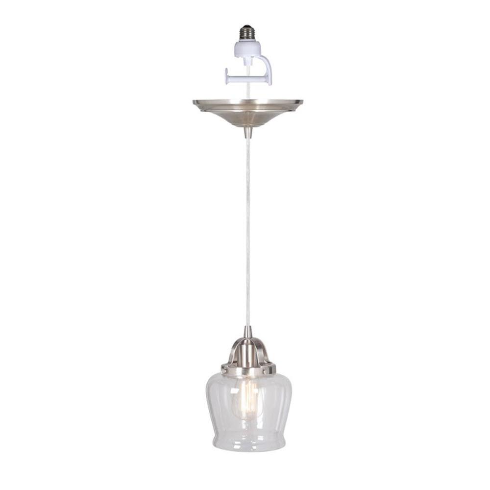 Hudson 1-Light Brushed Nickel Pendant with Conversion Kit
