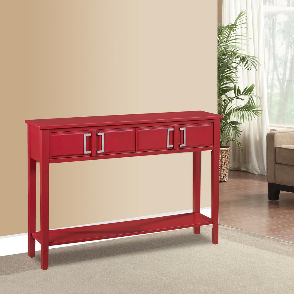 Pulaski Furniture Red Storage Console Table DS 2171700 RD The