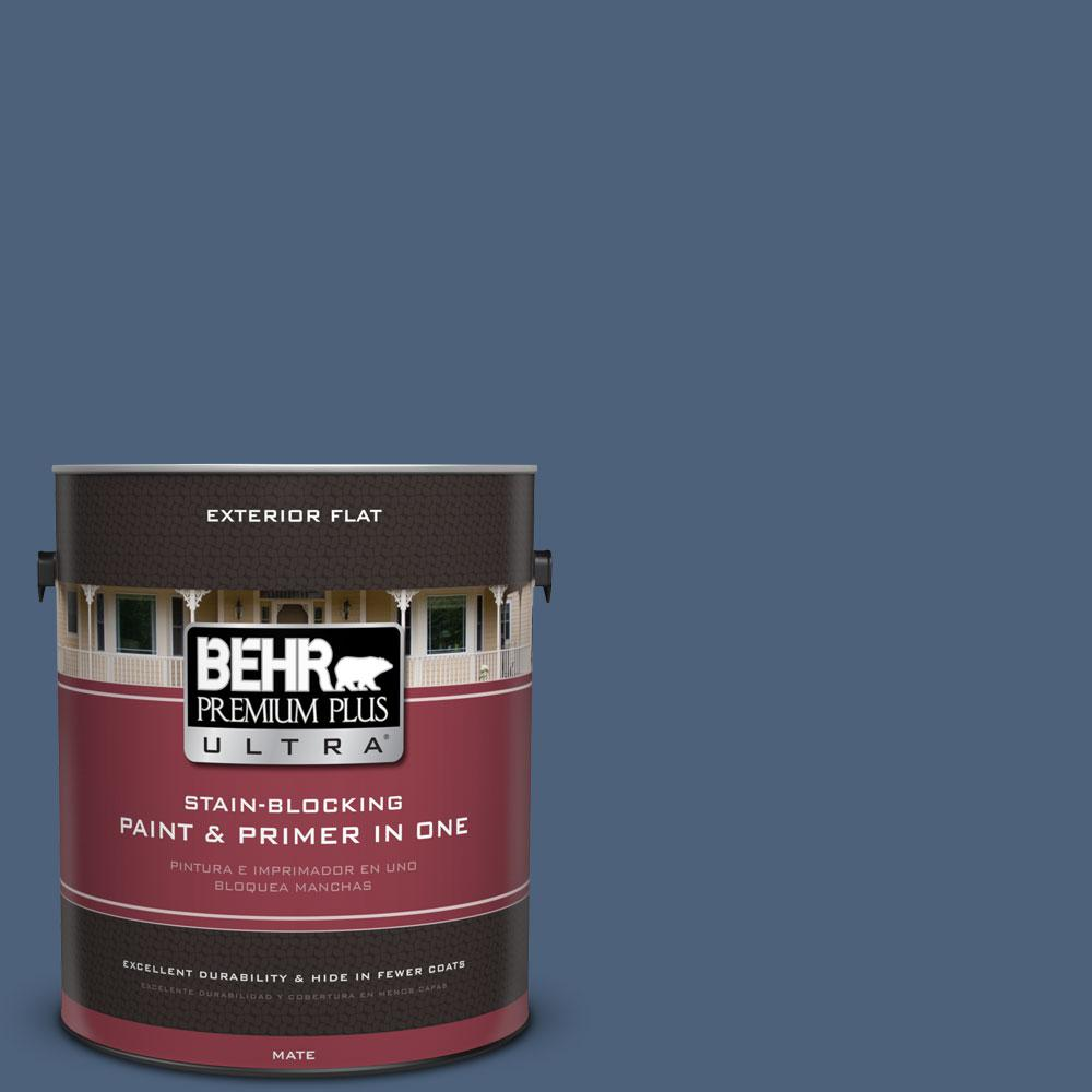 1 gal. #590F-6 Mesmerize Flat Exterior Paint