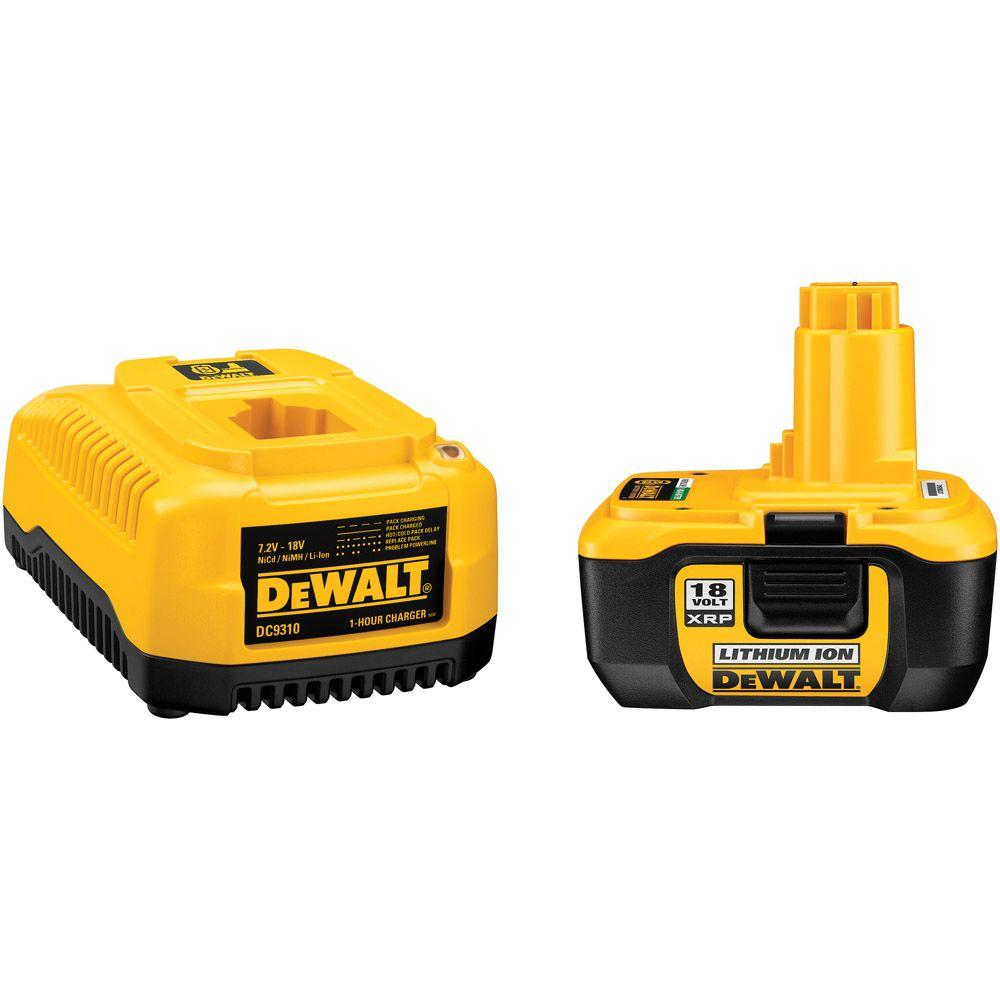 DEWALT XRP Nano-Phosphate Lithium-Ion 18-Volt Rechargeable Battery and Charger
