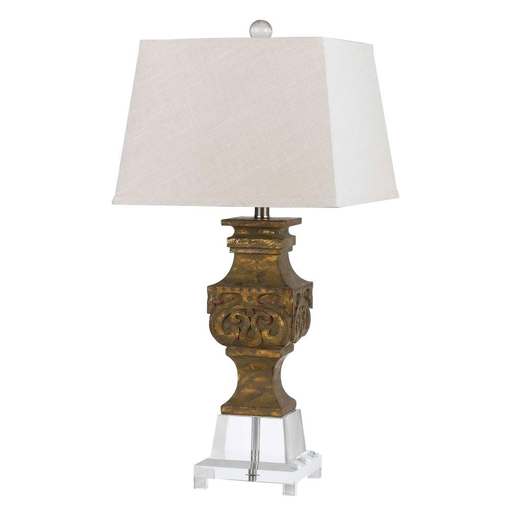 CAL Lighting 30 in. Antique Gold Pierson Table Lamp