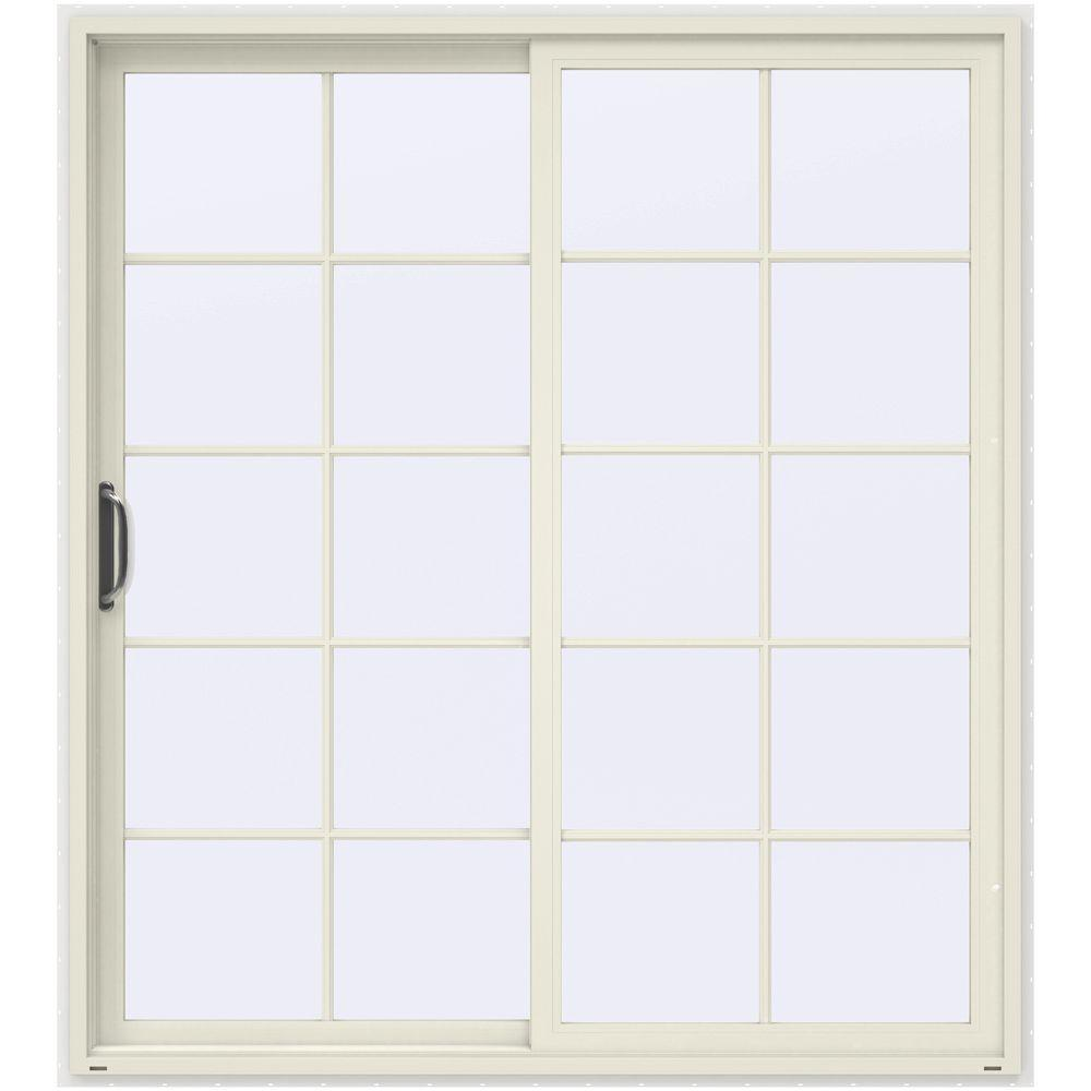 Jeld Wen 72 In X 80 In Steel White Left Handed Outswing French Patio Door I61176 The Home Depot