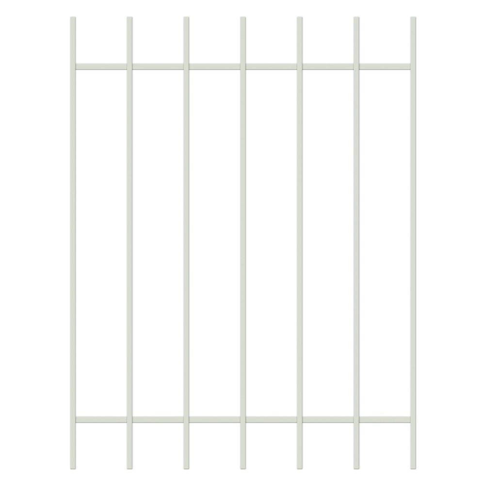 Unique Home Designs Guardian 36 in. x 48 in. Almond 7-Bar Window Guard-DISCONTINUED