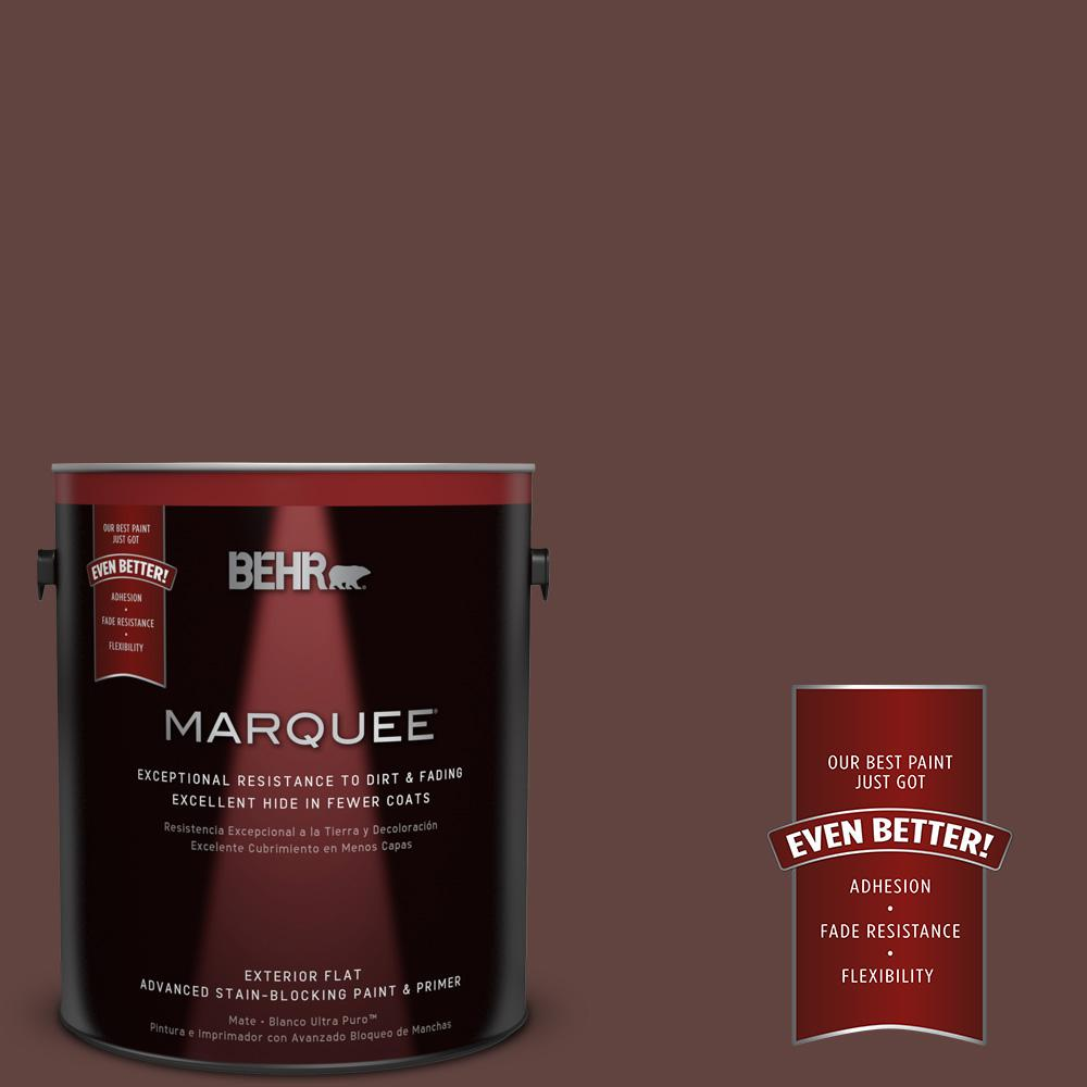 1-gal. #MQ1-54 Death by Chocolate Flat Exterior Paint