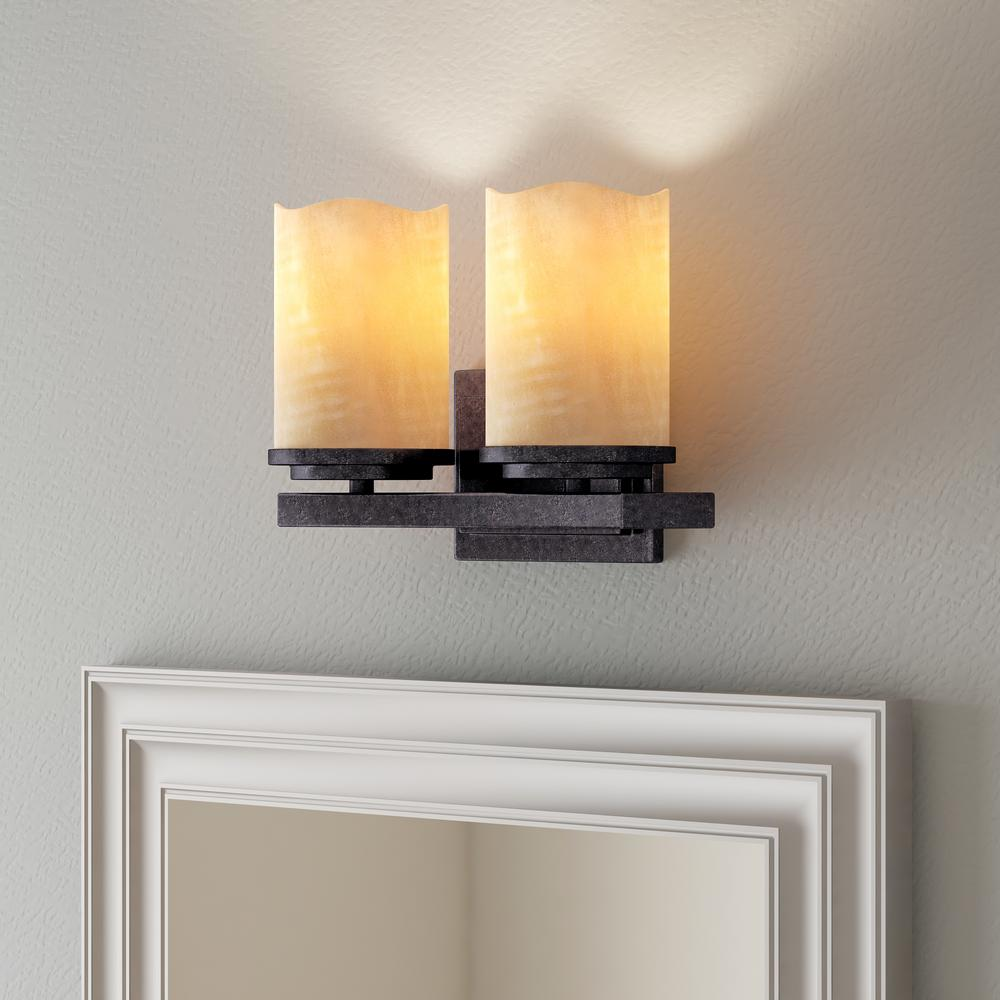 Maxim Lighting Luminous 2-Light Rustic Ebony Bath Vanity
