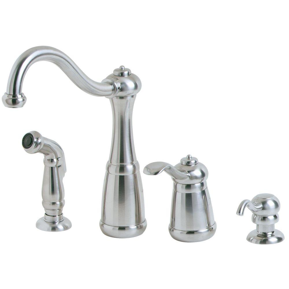 pfister marielle single handle side sprayer kitchen faucet