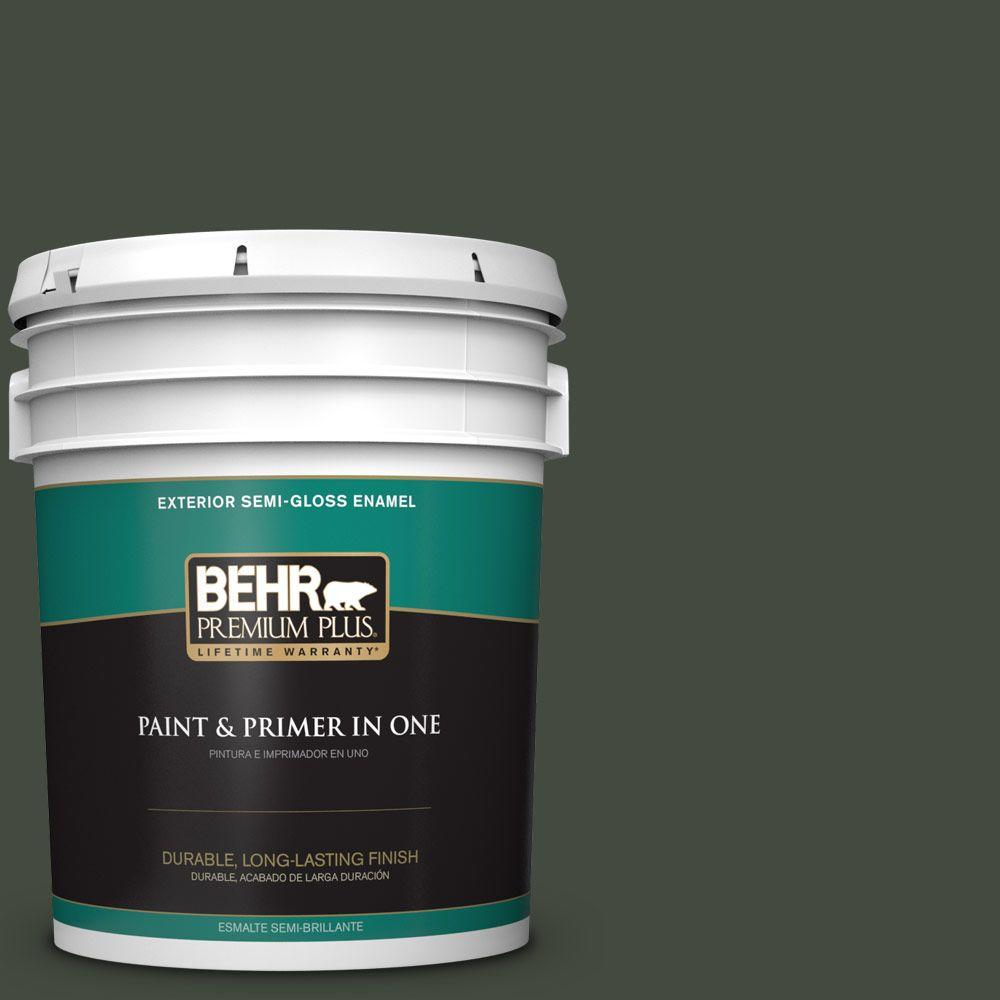 5-gal. #BXC-12 Deep Forest Semi-Gloss Enamel Exterior Paint
