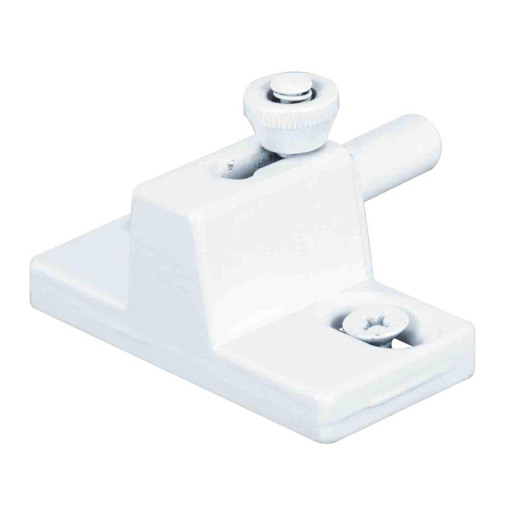 White Spring-Loaded Bolt Action Sliding Door Lock