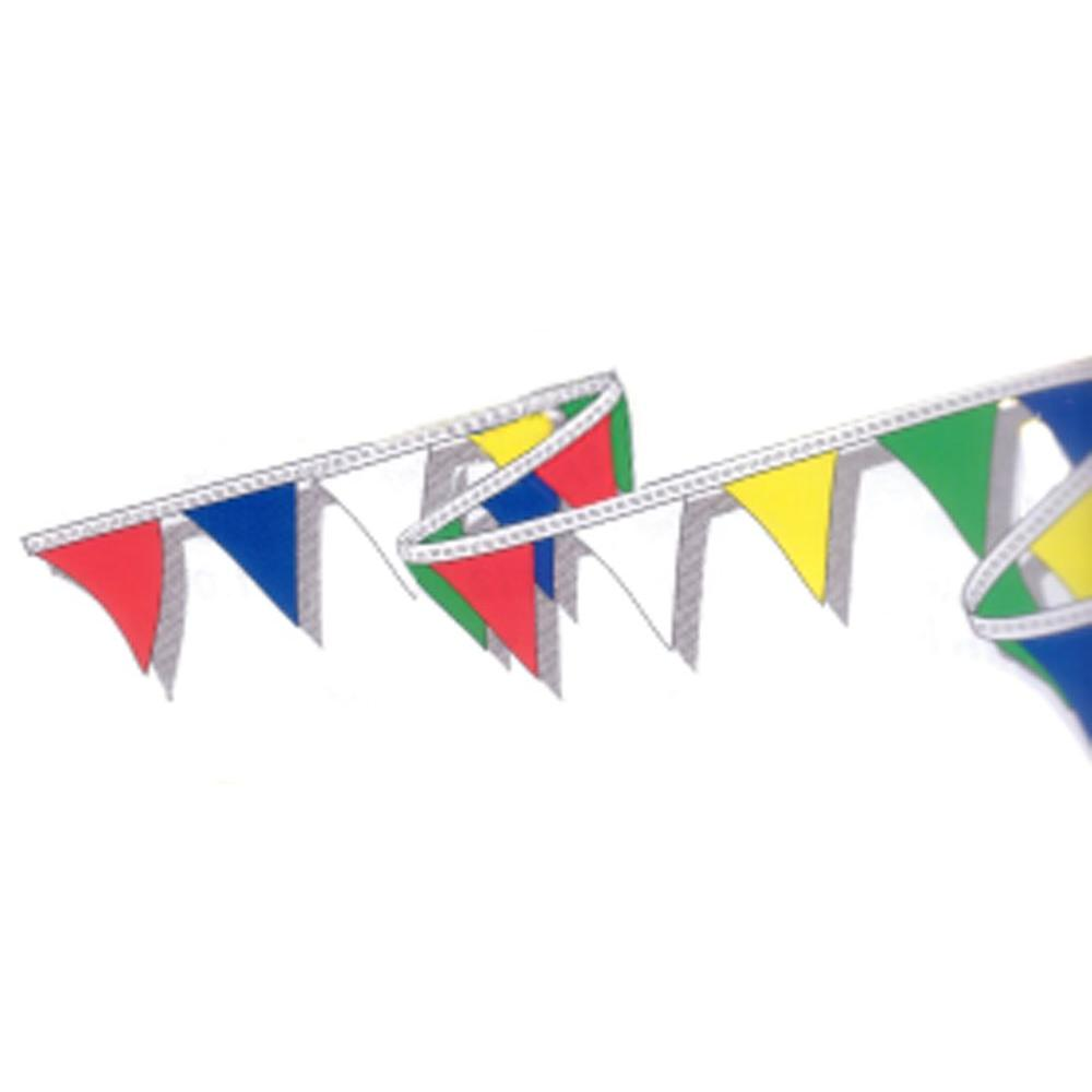50 ft. of 12 in. Multi-Colored String Flag Pennants, Multi-Color