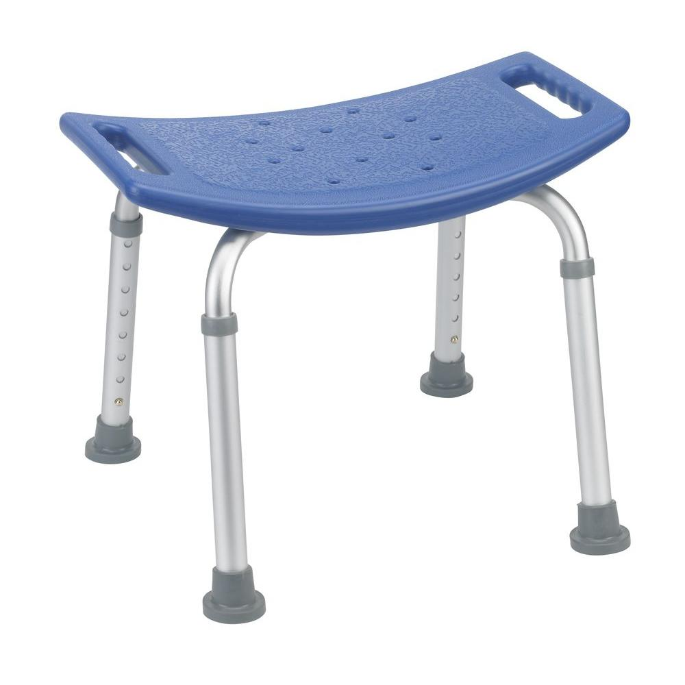 Bathroom Safety Shower Tub Bench Chair without Back in Blue