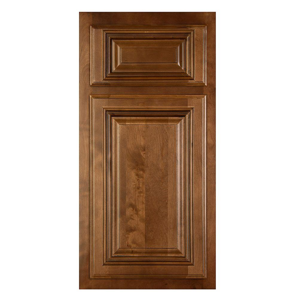 Home Decorators Collection 13x13 in. Cabinet Sample Door in Huntington Chocolate Glaze