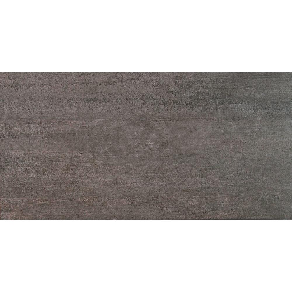 Metropolis Gray 12 in. x 24 in. Glazed Porcelain Floor and