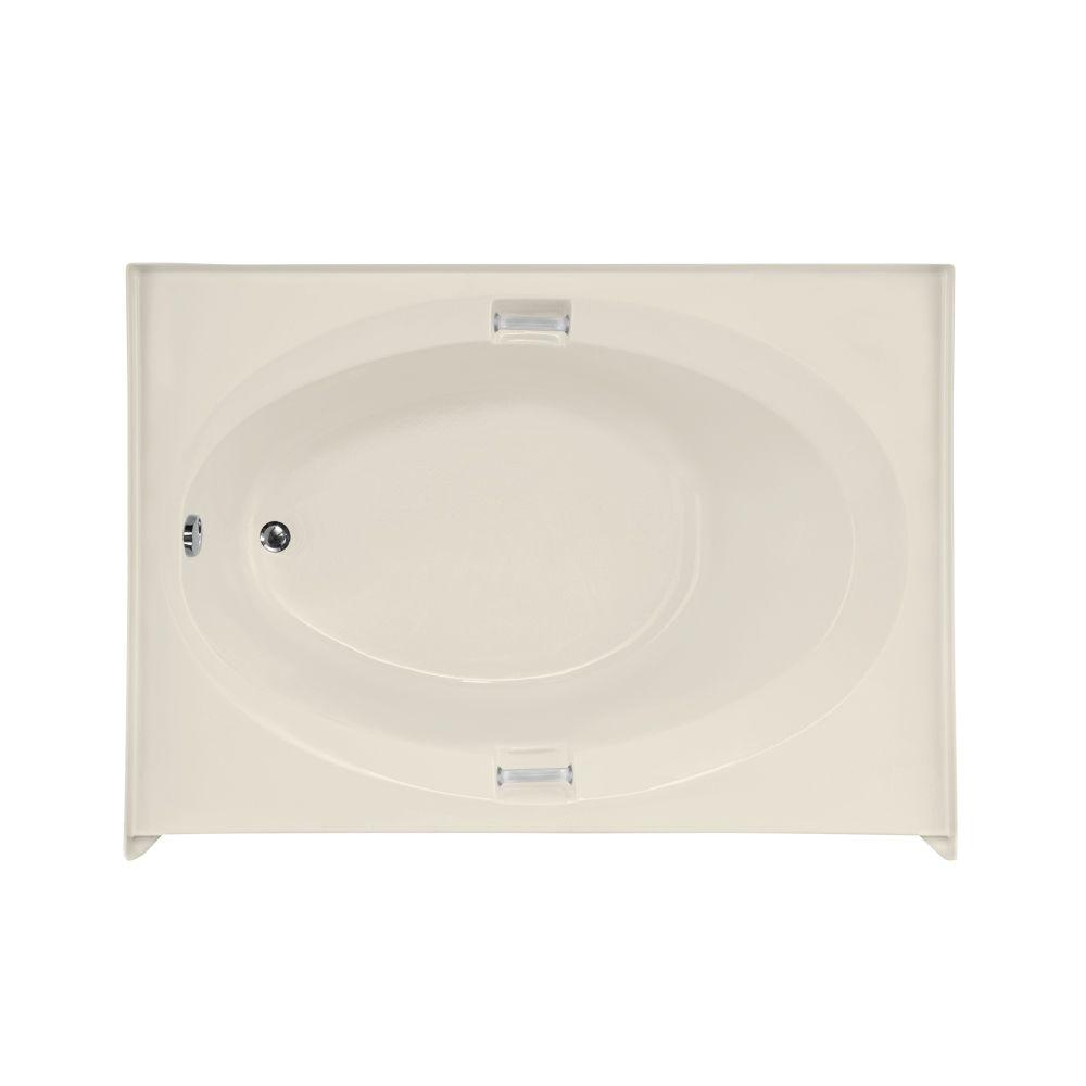 Sonoma 5 ft. Acrylic Left Drain Rectangle Bathtub in Biscuit