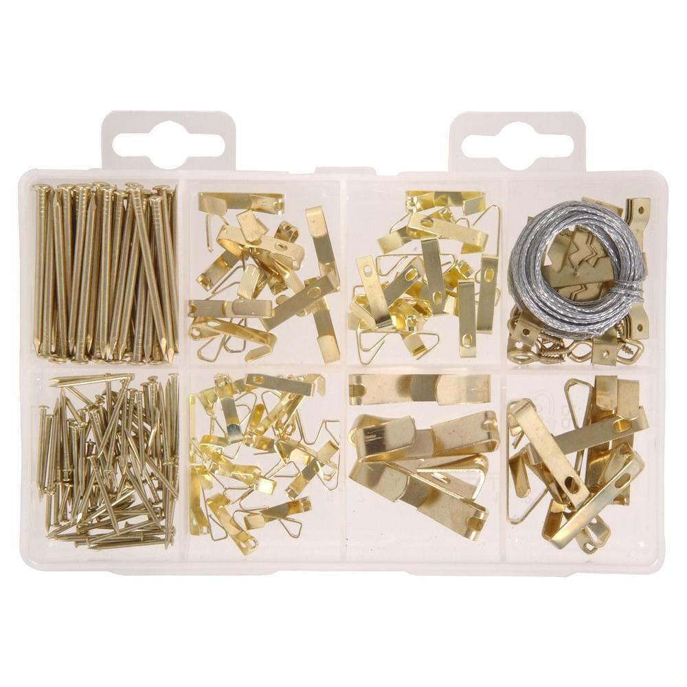 Brass Plated Picture Hanging Kit (217-Piece)