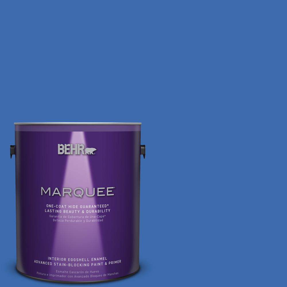 1 gal. #T18-17 Wide Sky Eggshell Enamel Interior Paint