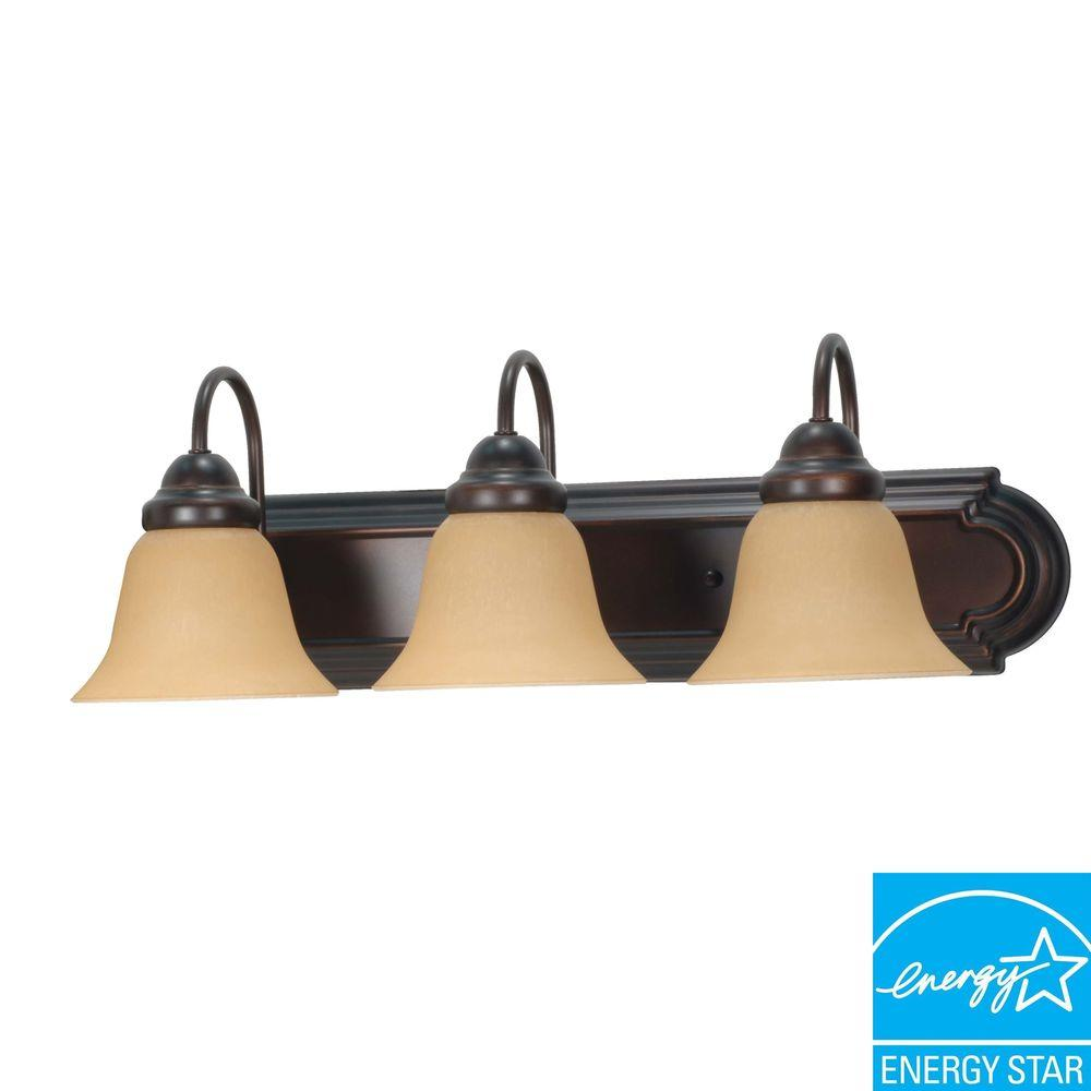 Sophrosyne 3-Light Mahogany Bronze Bath Vanity Light