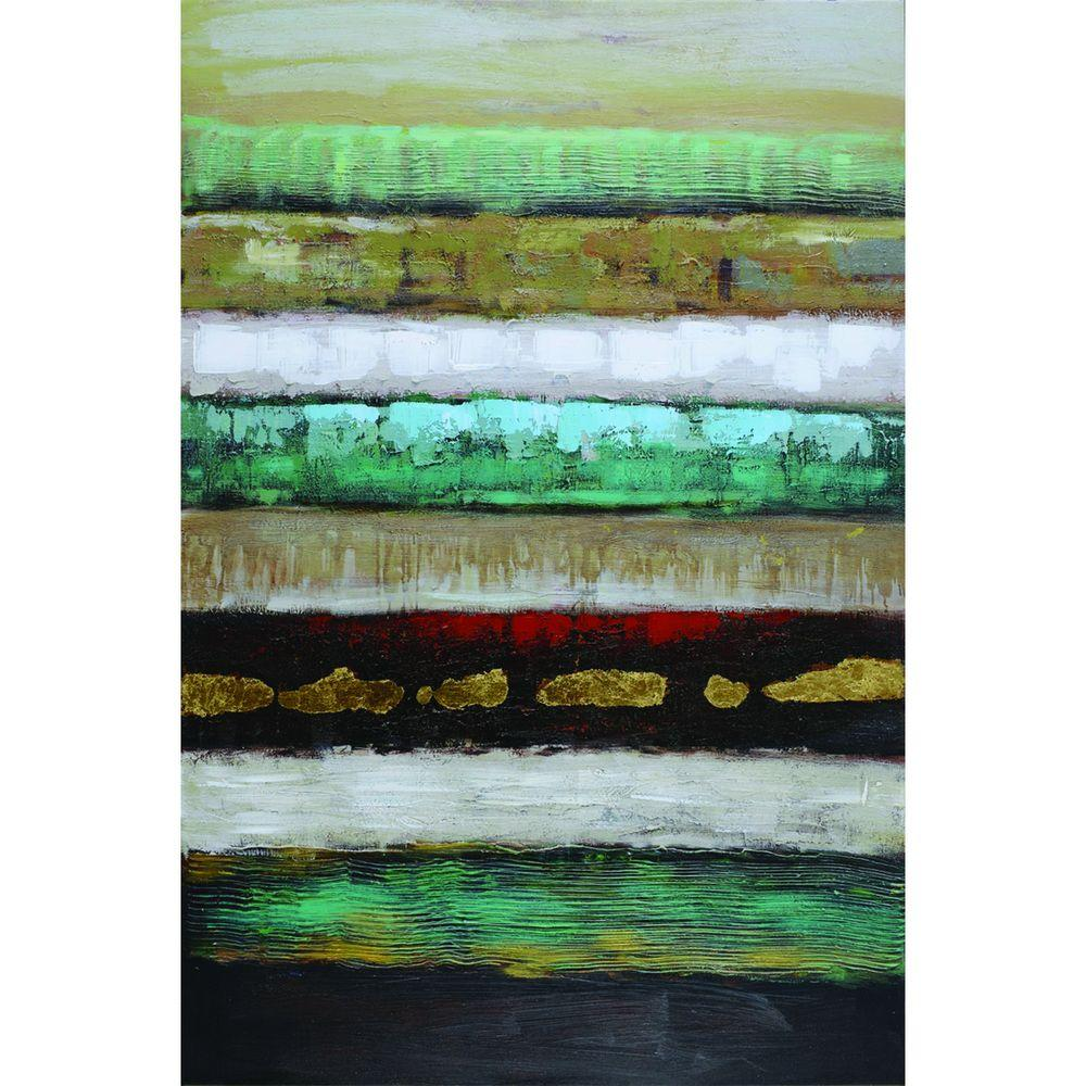 "Yosemite Home Decor 48 in. x 32 in. ""Layers I"" Hand Painted Contemporary Artwork"