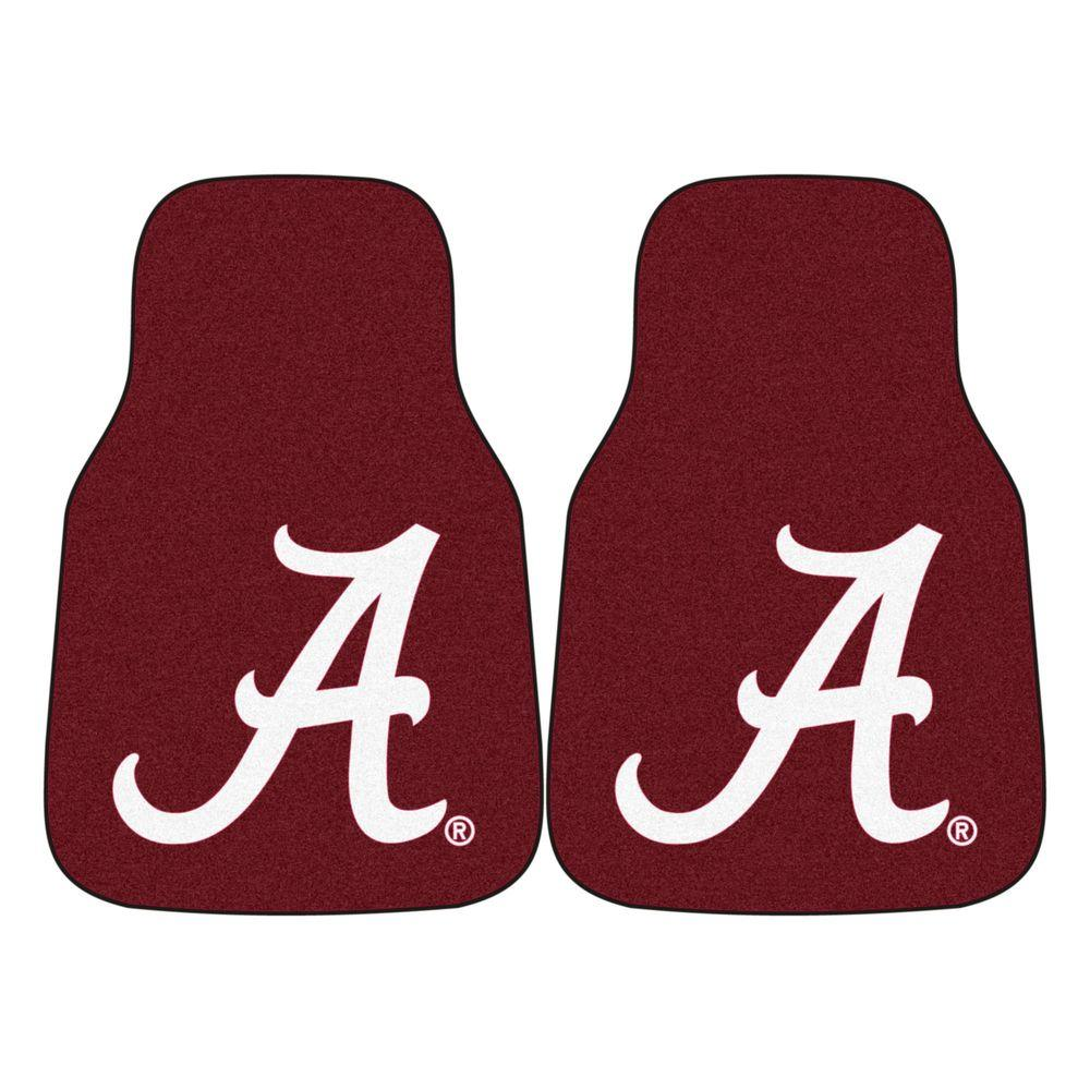 University of Alabama 18 in. x 27 in. 2-Piece Carpeted Car