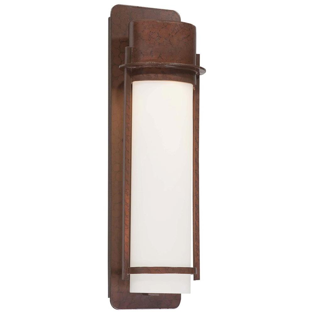 Wall-Mount 1-Light Outdoor Architectural Bronze Lantern
