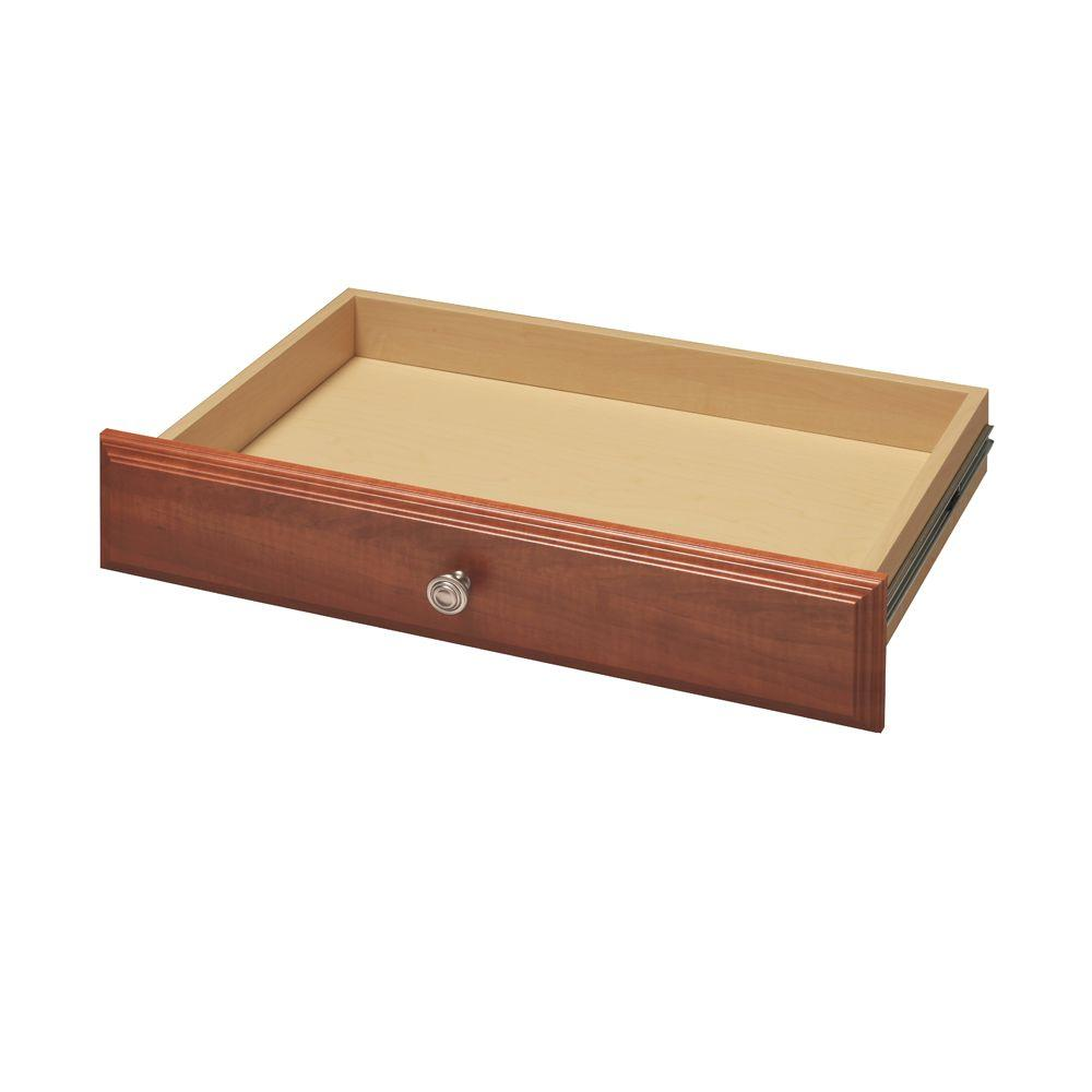4 in. x 24 in. Wild Cherry Deluxe Drawer Kit
