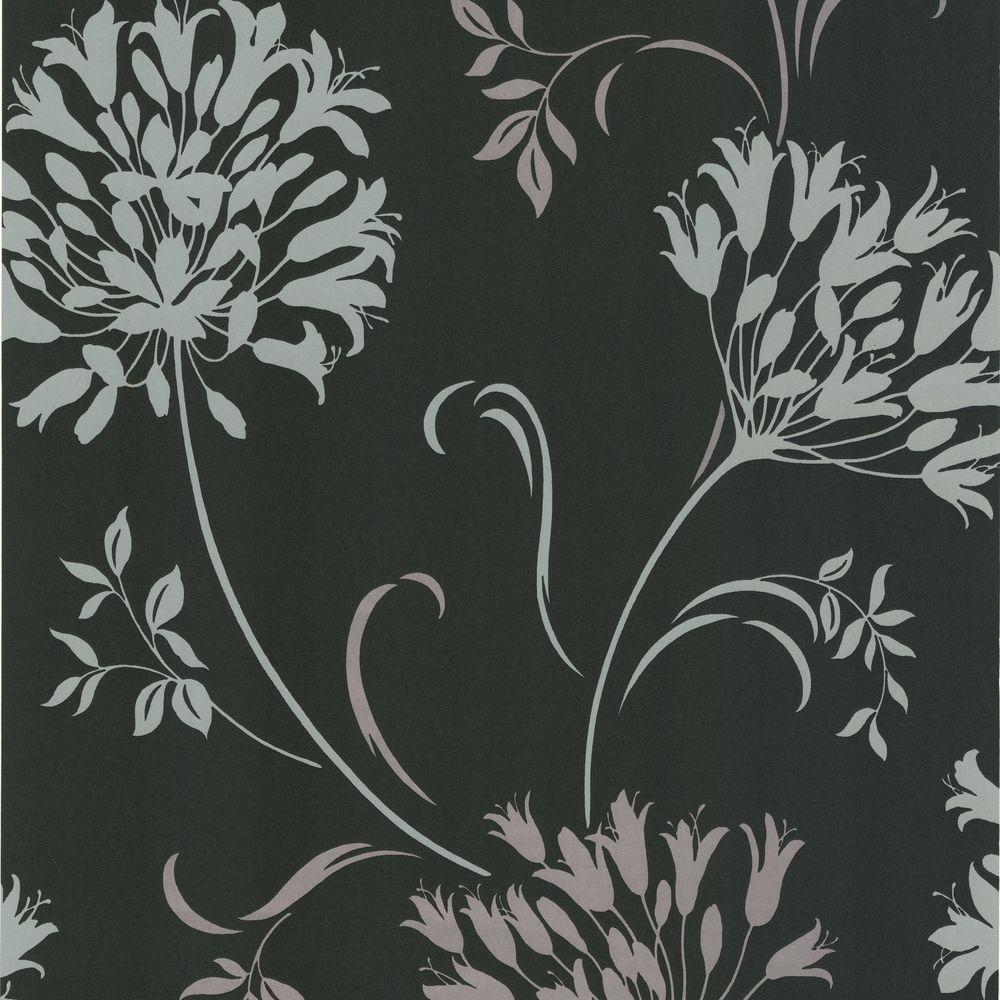 null Accent 56 sq. ft. Agapanthus Wallpaper