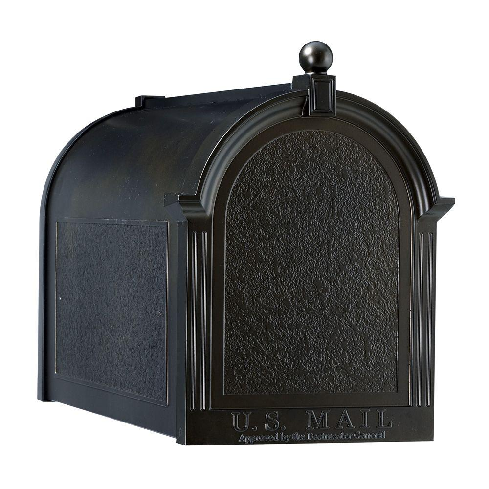Whitehall Products Streetside Mailbox in Black-16018 - The Home Depot