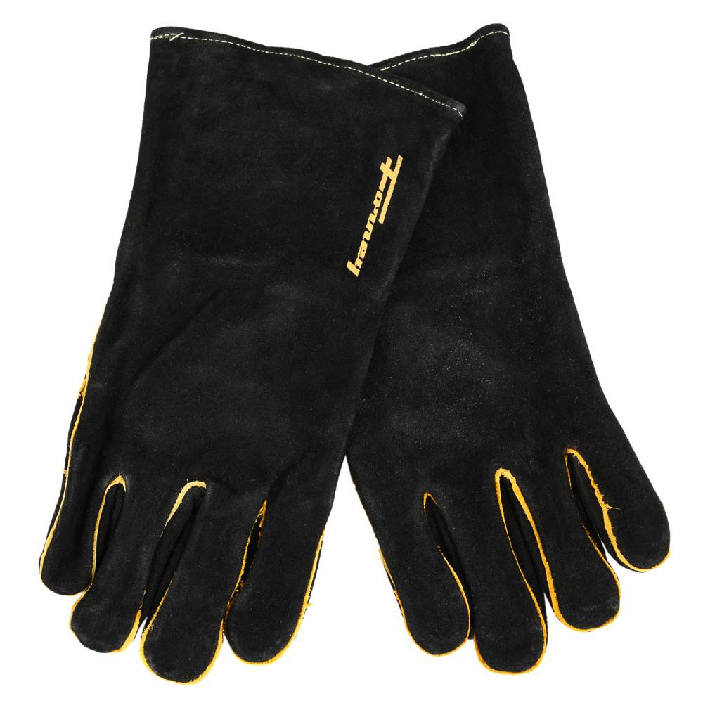 Forney Large Men?s Black Leather Welding Gloves-53425 - The Home Depot