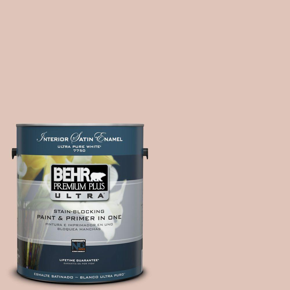 1-Gal. #PPU2-7 Coral Stone Satin Enamel Interior Paint