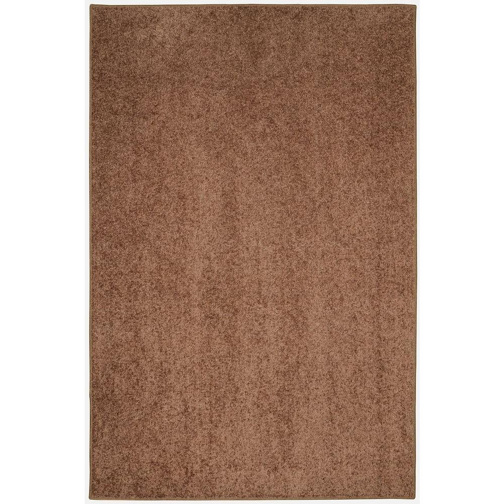 Value Plush Coffee Bean 6 ft. x 9 ft. Area Rug