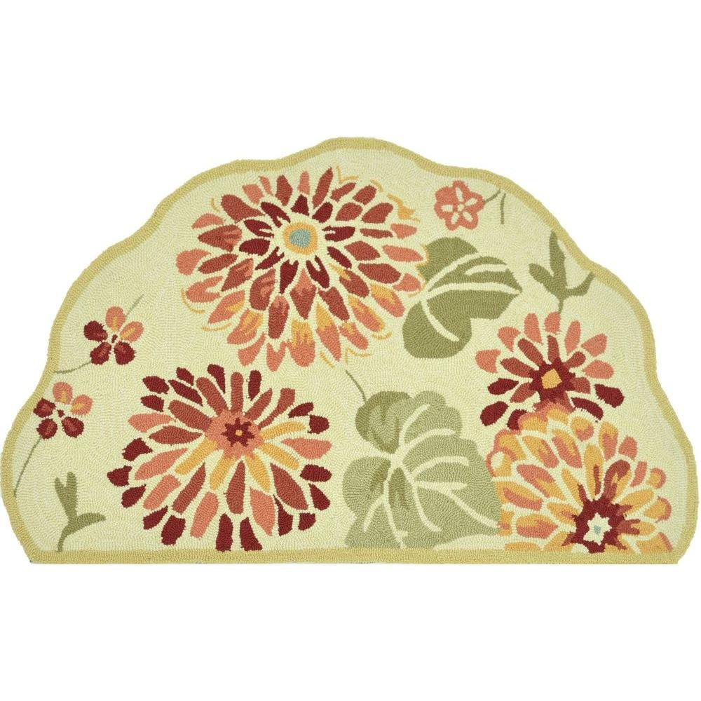Loloi Rugs Summerton Life Style Collection Maize 2 ft. 3 in. x 3 ft. 9 in. Scalloped Hearth Area Rug