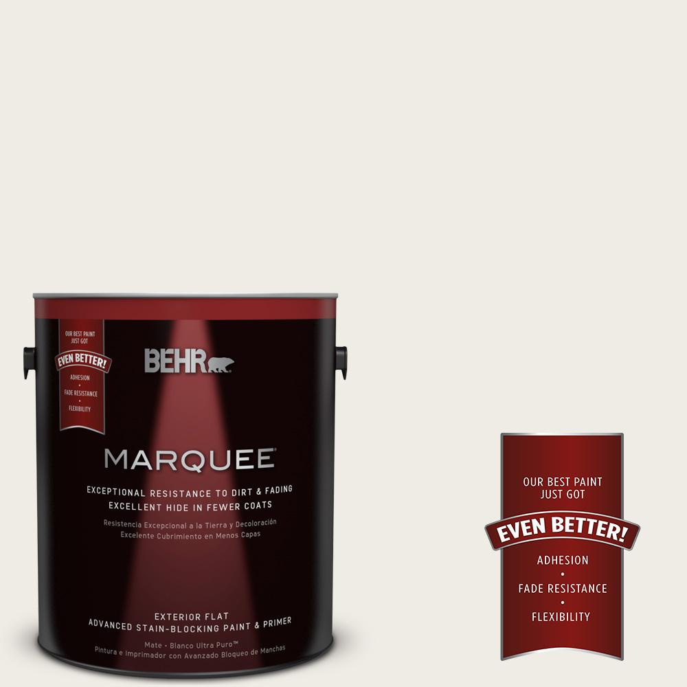 BEHR MARQUEE 1-gal. #PPU7-12 Silky White Flat Exterior Paint