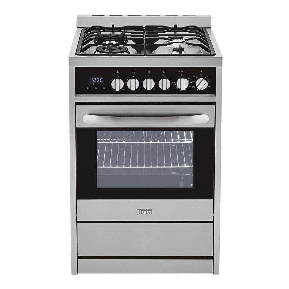 2.0 cu. ft. Dual Fuel Range with Convection Oven in Stainless