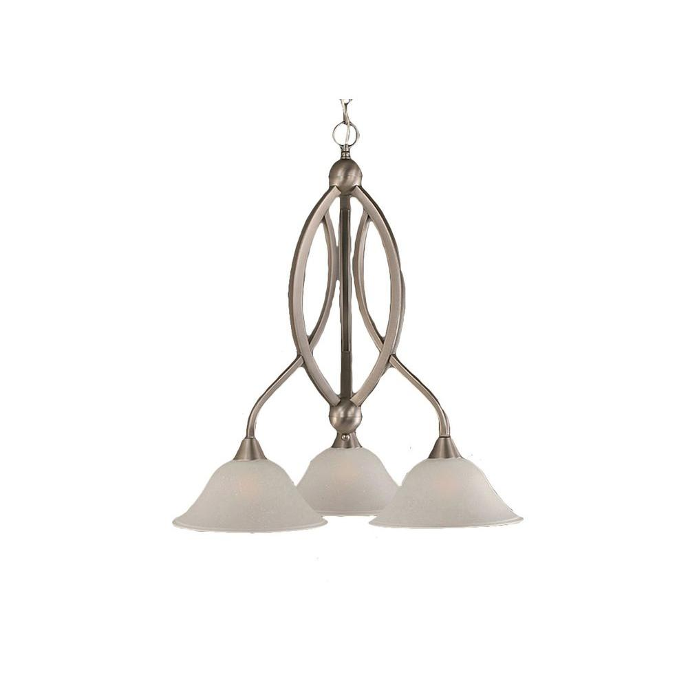 Filament Design Concord 3-Light Brushed Nickel Chandelier with Dew Drop