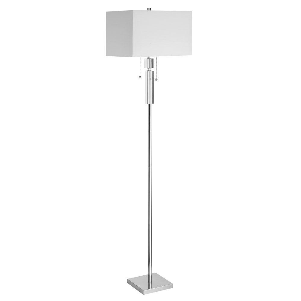 Radionic Hi Tech Moxley 10 in. Polished Chrome Floor Lamp