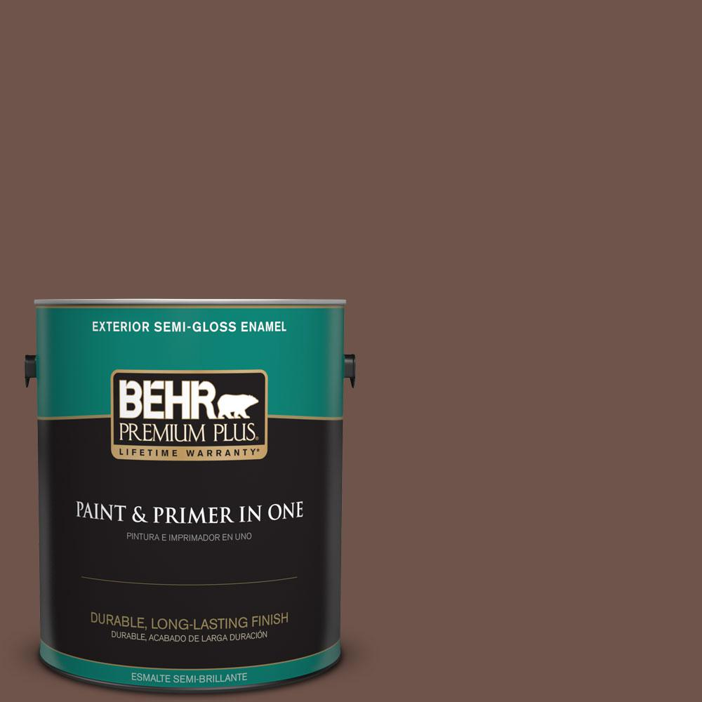 1-gal. #N150-6 Coffee Beans Semi-Gloss Enamel Exterior Paint