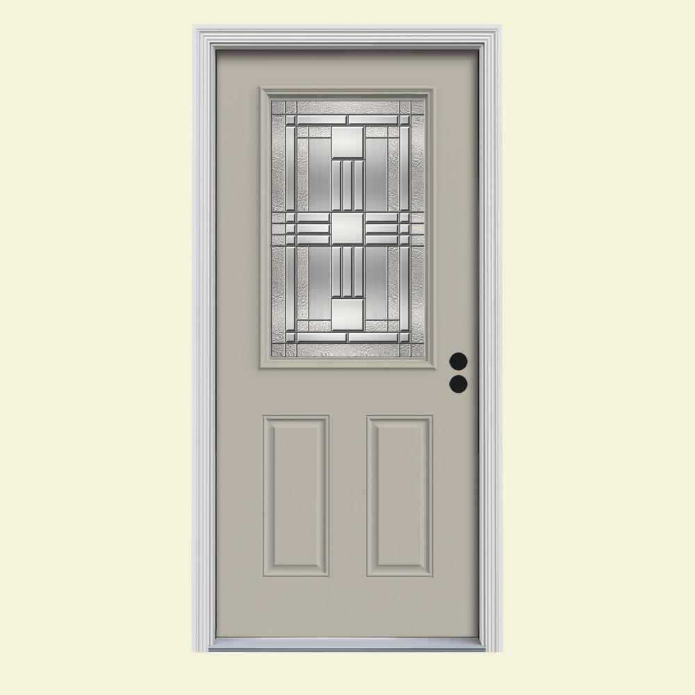 33.438 in. x 81.75 in. 1/2 Lite Cordova Desert Sand Painted