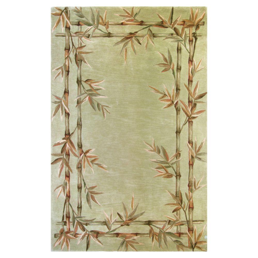 Kas Rugs Bamboo Screen Sage 3 ft. 6 in. x 5 ft. 6 in. Area Rug