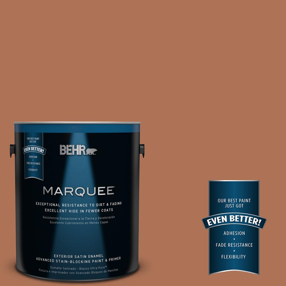 BEHR MARQUEE 1-gal. #PPU3-15 Glazed Pot Satin Enamel Exterior Paint