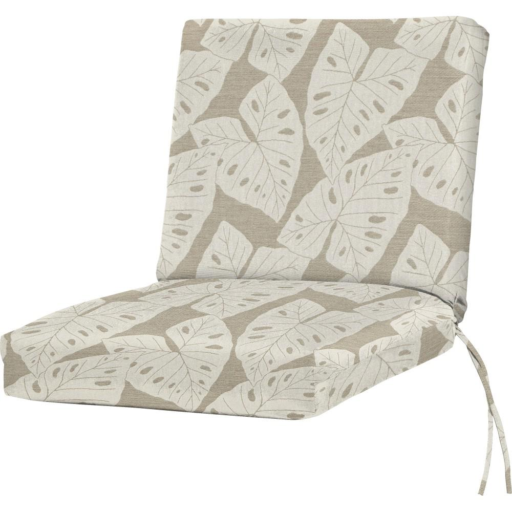 Sunbrella Radiant Silver Outdoor Dining Chair Cushion