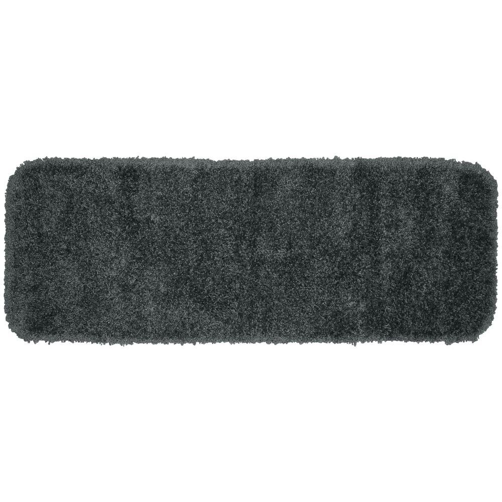 Garland Rug Serendipity Dark Gray 22 in. x 60 in. Washable Bathroom Accent Rug